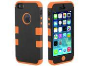 Hybrid Case Skin Protector For Apple iPhone 5 5s Orange+Black