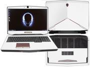 """Decalrus  - Alienware 17 (Released 2013) with 17"""" screen FULL BODY  WHITE Texture Carbon Fiber skin skins decal for case cover wrap CF13Alien17White"""