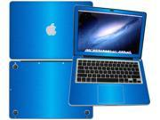 """Decalrus  - Apple Macbook Pro 13 with 13.3"""" screen Full Body LITE BLUE Texture Brushed Aluminum skin skins decal for case cover wrap BA13APpro13LiteBlue"""