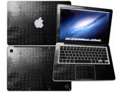 "Decalrus  - Apple Macbook Pro 13 RETINA display with 13.3"" screen Full BodyCrocodile skin pattern Texture skin skins decal for case cover wrap CRO13pro13RETBlack"