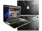 Decalrus  - Apple Macbook Pro 15 with RETINA display Full BodyCrocodile skin pattern Texture skin skins decal for case cover wrap CROCF15retinaBlack