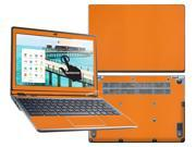 """Decalrus  - Acer C720P """"P"""" Chromebook with 11.6"""" TOUCHSCREEN Full Body ORANGE Texture Carbon Fiber skin skins decal for case cover wrap CFfbC720POrange"""