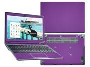"""Decalrus  - Acer C720P """"P"""" Chromebook with 11.6"""" TOUCHSCREEN Full Body PURPLE Texture Carbon Fiber skin skins decal for case cover wrap CFfbC720PPurple"""
