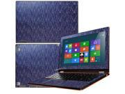 """Decalrus  - Lenovo Ideapad Yoga 13 (1st Generation)  with 13.3"""" screen Full Body BLUE Chameleon Mosaic pattern Blue to Purple texture skin skins decal for case cover wrap MOSyoga13Blue"""