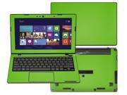 """Decalrus  - Asus Vivobook X200MA X200CA K200MA  with 11.6"""" TOUCHscreen Full Body GREEN Texture Carbon Fiber skin skins decal for case cover wrap CF13X200MAGreen"""