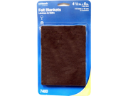"WAXMAN 4-1/2"" x6"" Brown Soft Touch Self Stick Felt Pads"