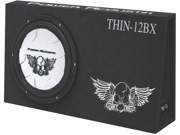 "NEW Power Acoustik THIN-12BX Slim 12"" Loaded Subwoofer Enclosure Box THIN12BX"