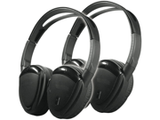 Power Acoustik HP-902RFT 2 Swivel Ear Pad 2-Channel RF 900 Mhz Wireless Headphones with Transmitter