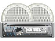 Dual Mcp300 Am Fm Cd Marine Receiver Pair 6.5 Speakers Remote 6 1/2