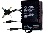 NEW NIPPON DV1000 AC/DC 1000mA POWER ADAPTER 6 WAY UNIVERSAL PLUG