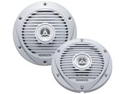 """Kenwood Kfc-1652Mrw 6-1/2"""" 2-Way 300W Marine Speaker - Pair - White"""