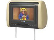 "New Audiovox Avxmtghr1d 7"" Widescreen Headrest Monitor Dvd Player Black Gray Tan"