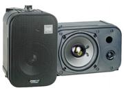 "New Pair Pyle Pdmn38 3.5"" 200W Black Monitor Speakers 200 Watt 3 1/2"""