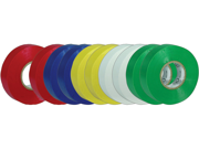 """NEW NIPPON ET20 10 PACK VINYL MULTI-COLOR ELECTRICAL TAPE 3/4"""" x 60' PER ROLL"""