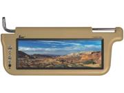 "NEW TVIEW T102SVTAN 10.2"" TFT LCD TAN CAR SUN VISOR MONITORS DRIVER & PASSENGER"