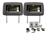 """New Pair Tview T921pl 9"""" Dual Black Headrest Tft Lcd Monitors W/ Remote T921plbk"""