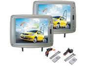 "NEW TVIEW T120PLTAN 12"" TAN CAR HEADREST WIDESCREEN TFT LCD MONITORS W/ REMOTES"
