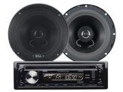 New Boss 654Ck Cd-R/Rw Car Audio Mp3 Usb Aux, Pair 6.5 2-Way Speaker