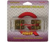 NEW Q-POWER QPFB12 1 IN / 2 OUT AGU FUSE BLOCK