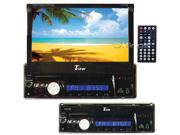 """New Tview D76tsb In Dash Single Din 7"""" Touch Bluetooth Car Dvd Player Stereo"""