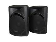 "Podium Pro PP1504CA 1 Pair of 1800 Watts Band DJ PA Karaoke Powered 15"" Loud Speakers w/ Flash Drive"