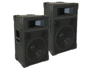 "Podium Pro TRAP12 PA DJ Band Karaoke 12"" Pro Audio Two Way Speaker Monitor Pair"