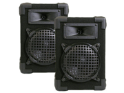 "Podium Pro 600C DJ PA Karaoke Home Bookshelf 6.5"" Pro Audio Black Two Way Speaker Pair"