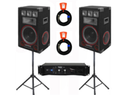 VMPR12 Speakers, Amp, Stands and Cables Technical Pro PA DJ Set New VMPR12SET2
