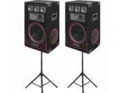 VMPR12 Speakers and Stands Technical Pro PA DJ Audio Set New VMPR12SET1