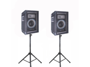 VRTX6PR Speakers and Stands Technical Pro PA DJ Audio Set New VRTX6PRSET1