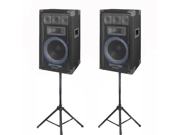 VRTX10 Speakers and Stands Technical Pro PA DJ Audio Set New VRTX10SET1