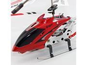 Syma S107 Remote Control RC Helicopter Toy 3 ch Red Metal Mini RTF w/ Gyroscope