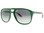Gucci 1018/S Sunglasses (In Color-Green/gray gradient)