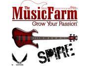 Dean Spire Classic Trans Red Electric Bass Guitar