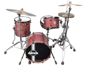 Ddrum Paladin Walnut Speakeasy 4-Piece Drum Set Shell Pack - Ember Red