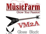 Dean VM2A Flying V Metalman Electric Bass Guitar - Gloss Black