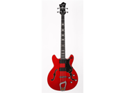 Hagstrom Viking Bass 4 String Hollow Body Electric Bass Guitar Trans Cherry