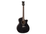 Dean Exotica Quilted Ash Black Acoustic Electric Guitar