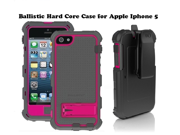 AFG Ballistic HC Hard Core Case with Holster & Belt Clip for Apple Iphone 5 Raspberry Pink Charcoal Gray HC0956M115