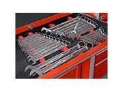 ERNST Mfg 6050 Red 30 Tool No-Slip Low Profile Wrench Rail Organizer