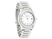 Bulova Classic Quartz Mens Day Silver Dial Bracelet Dress Watch 96B168