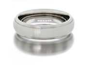Mens Classic 6.0mm Wide Titanium Ring Satin-Matte Finish Wedding Band Size 9