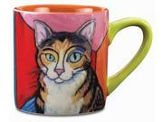 Paw Palettes Brown Tabby Cat Pawcasso Ceramic Mug, 16-Ounce