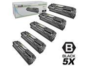 LD © Remanufactured Replacement for Hewlett Packard (HP) 128A Set of 5 Toner Cartridges Includes: 5 CE320A Black for use in HP Color LaserJet CM1415fnw, CP1525nw, CP1525nw