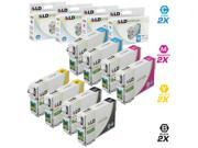 LD Remanufactured Replacement for Epson T079 Set of 8 High Yield Ink Cartridges: 2 T079120, 2 T079220, 2 T079320, 2 T079420, 2 T079520, 2 T079620 for the Artisan 1430, and Stylus Photo 1400 Printers