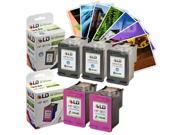 LD Remanufactured Ink Cartridge Replacements for HP CC654AN 901XL Black & CC656AN Color (3 Blk, 2 Clr) for OfficeJet J4540, J4580, J4660, G510a, J4680c, G510n, J4524, J4550, 4500, J4624, J4680, G510g