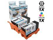 LD © Compatible Set of 2 (Series 21) Standard Yield Black & Color Ink Cartridges for the Dell V313 Printers: 1 Black Y498D, 1 Color Y499D