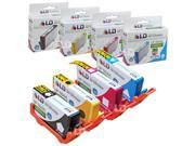 LD Remanufactured Replacements for HP 564XL / 564 Set of 4 High Yield Inkjet Cartridges Includes: 1 CN684WN Black, 1 CB323WN Cyan, 1 CB324WN Magenta, and 1 CB325WN Yellow:SHOWS ACCURATE LEVELS