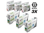 LD © Remanufactured Replacements for Epson T0981 Set of 3 High Yield Ink Cartridges Includes: 3 Black T098120 for use in Epson Artisan 700, 710, 725, 730, 800, 810, 835, & 837 Printers