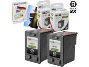 LD © Remanufactured Replacement for Hewlett Packard (HP 27) C8727AN Set of 2 ink Cartridges & FREE 20pk of LD 4X6 Photo Paper